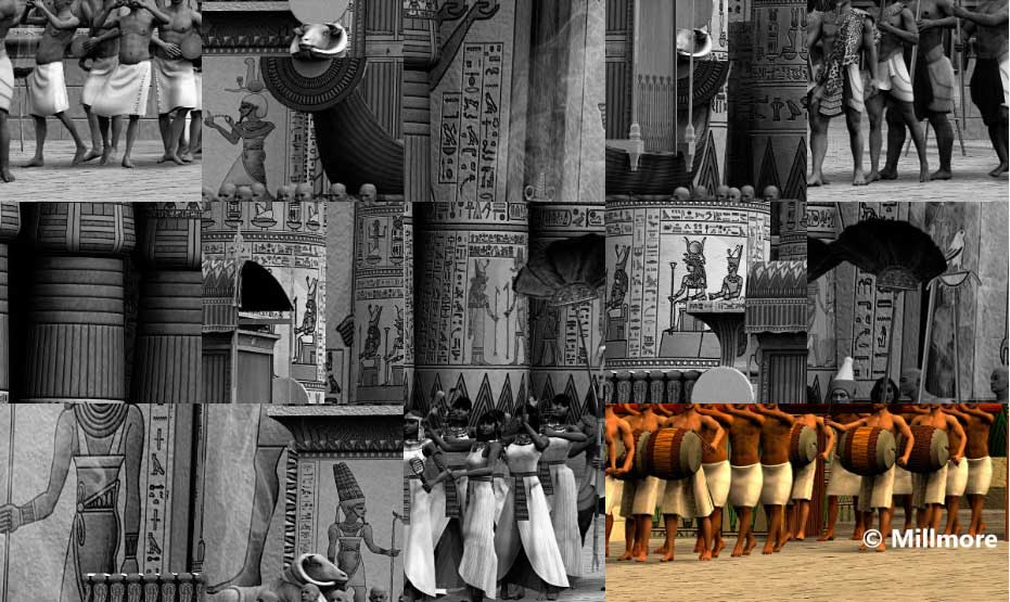 Egyptian Temples Reconstruction Puzzles